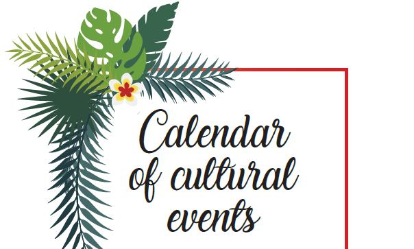 Calendar of cultural events