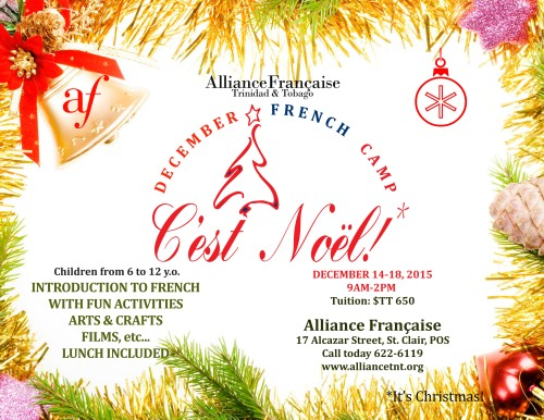 C'est noel- DECEMBER FRENCH CAMP